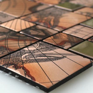 Mosaic Tiles Stainless Steel Metal Columbus Copper