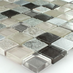 SAMPLE Mosaic Tiles Aluminium Glass Natural Stone Quartzite