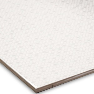 Wabe Floor Tiles White Glossy 33x33cm