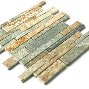 SAMPLE Quartzite Mosaic Natural Stone Tiles Beige Sticks