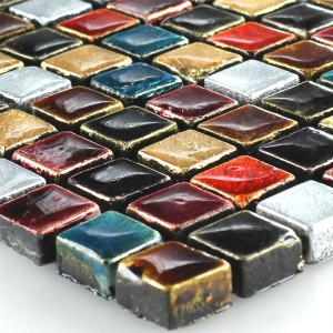 SAMPLE Mosaic Tiles Glass Colored Mix 15x15x8mm
