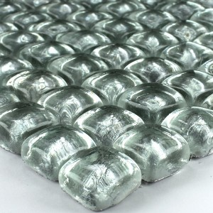 Mosaic Tiles Glass on the Rocks Silver