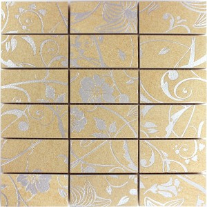 Mosaic Tiles Teros Ornament Flower Beige