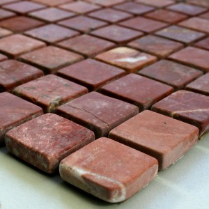 Mosaic Tiles Marble 23x23x8mm Red