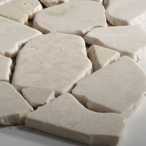 SAMPLE Mosaic Tiles Broken Marble Beige