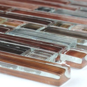 SAMPLE Mosaic Tiles Glass Red Mix