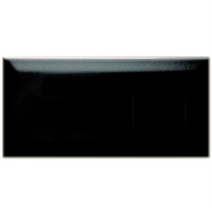 Metro Wall Tiles Facet Black Glossy 7,5x15cm