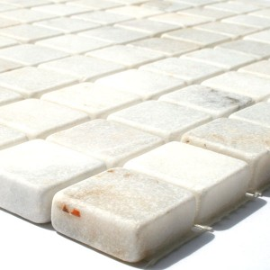 Mosaic Tiles Marble 23x23x10mm White