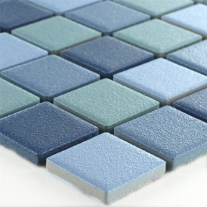 Mosaic Tiles Ceramic Non Slip Blue Mix