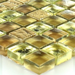 SAMPLE Mosaic Tiles Glass Natural Stone Gold
