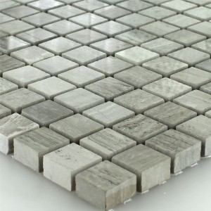 Mosaic Tiles Marble 15x15x8mm Mud Grey Polished