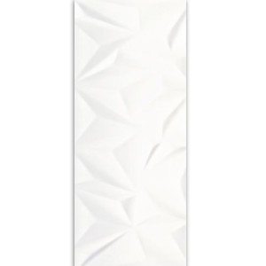 Wall Tiles Structured Fracture White 30x80cm