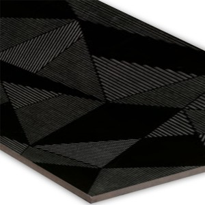 Wall Tiles Structured Fracture Decor Black 30x80cm