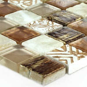 Glass Natural Stone Onyx Mosaic Tiles Sun