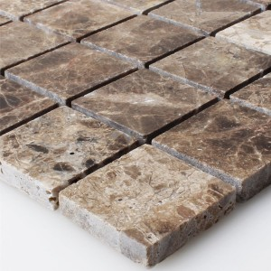 Mosaic Tiles Marble Emprador Brown 32x32mm