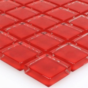 SAMPLE Mosaic Tiles Glass Red Uni