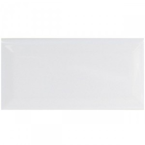 SAMPLE Metro Wall Tiles Talco White Glossy Facet 7,5x15cm