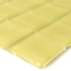 Mosaic Tiles Glass Yellow Mat 48x48x8mm