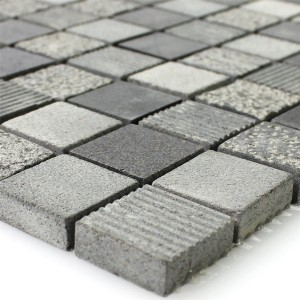 Mosaic Tiles Natural Stone Notte Anthracite