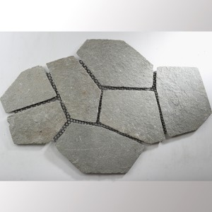 Polygonal Plates Quartzite Grey
