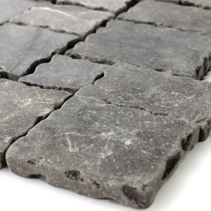 Mosaic Tiles Natural Stone Anthracite Drummed
