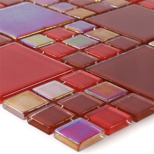 Mosaic Tiles Glass Red Elox