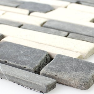Mosaic Tiles Marble Natural Stone Brick Biancone Java