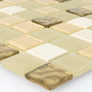 Mosaic Tiles Natural Stone Glass Self Adhesive Gold