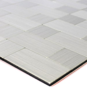 Self Adhesive Metal Mosaic Tiles Silver Mix