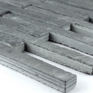 Mosaic Tiles Slate 15x151x8mm Anthracite