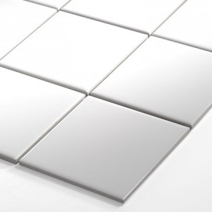 SAMPLE Mosaic Tiles Ceramic White Mat 100x100x6mm