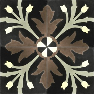 Cement Tiles Liverpool Ornament FlowerSAMPLE