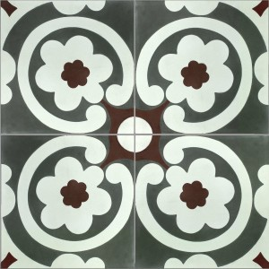 Cement Tiles London Ornament FlowerSAMPLE