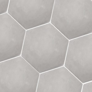 Cement Tiles Hexagon Crewe Light Grey Uni
