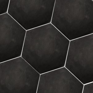 Cement Tiles Hexagon Gosport Black Uni