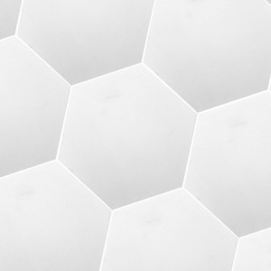 SAMPLE Cement Tiles Hexagon Rugby White Uni