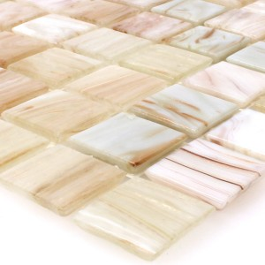 SAMPLE Mosaic Tiles Glass Goldensilk Light Beige