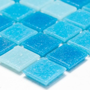 Mosaic Tiles Glass Blue Mix