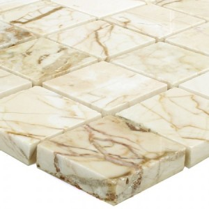 SAMPLE Mosaic Tiles Marble Golden Cream Polished