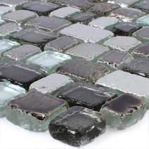Mosaic Tiles Glass Roxy Grey Silver