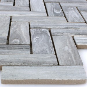 Mosaic Tiles Ceramic Rotilia Stone Optic Grey