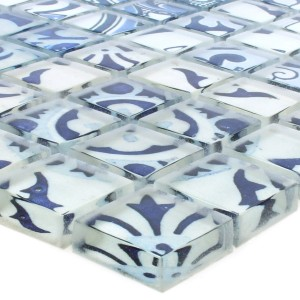 Mosaic Tiles Glass Inspiration Blue