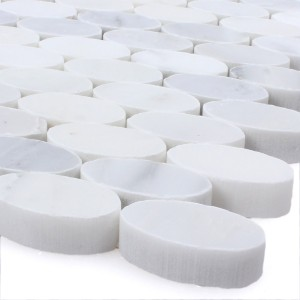Mosaic Tiles Natural Stone Everest Oval White
