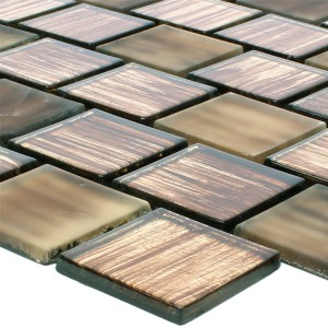 Glass Mosaic Lanzarote Brown Slim