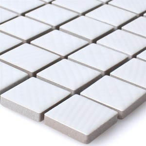 Mosaic Tiles Ceramic Carlson White