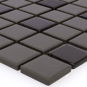 Mosaic Tiles Unglazed Garden Black Square