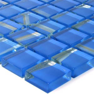 Glass Mosaic Tiles Ordabay Blue