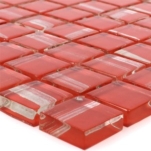 Glass Mosaic Tiles Ordabay Red