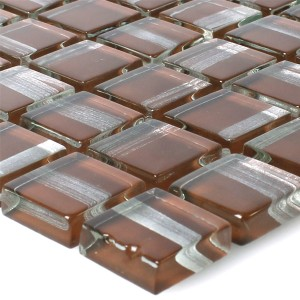 Glass Mosaic Tiles Ordabay Brown