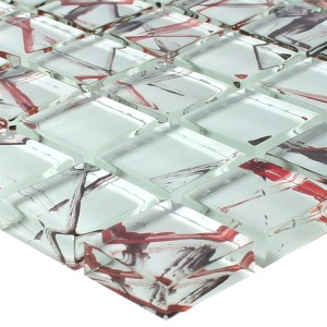 Glass Mosaic Tiles Ordabay White